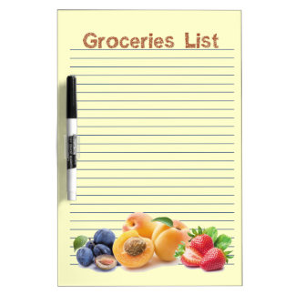 Groceries List 4  Dry Erase Board