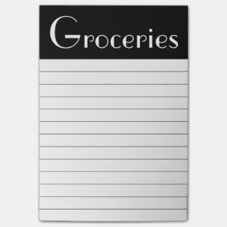 Groceries Post It Notes