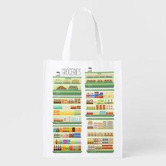 Groceries Reusable Grocery Bags