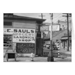 Grocery and Sandwich Shop, 1934 Greeting Card