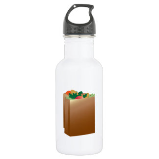 Grocery Bag Base 18oz Water Bottle