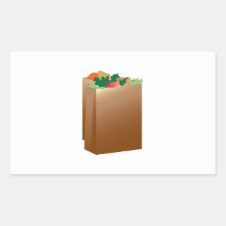 Grocery Bag Base Rectangular Sticker