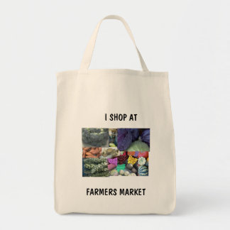 GROCERY BAG - I SHOP AT, FARMERS MARKET