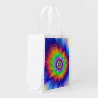 Grocery Bag  Tie Dye Fireball