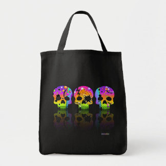 Grocery Bag - Trick or Treat Bag - POP ART SKULLS