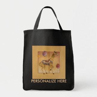 Grocery Bags - Carousel Giraffe