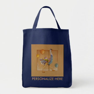 Grocery Bags - Carousel Ostrich