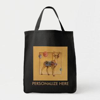 Grocery Bags - Carousel Reindeer or Elk