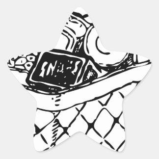 Grocery Basket Star Sticker