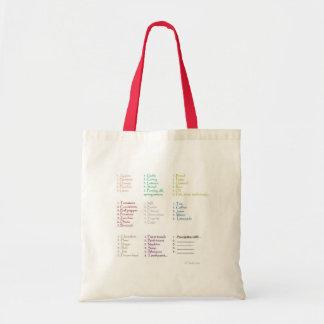 Grocery big list bag