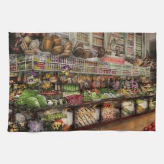 Grocery - Edward Neumann The produce section 1905 Hand Towel