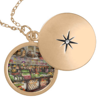 Grocery - Edward Neumann The produce section 1905 Locket Necklace