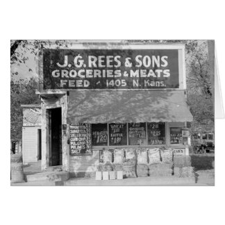 Grocery & Feed Store, 1938 Card