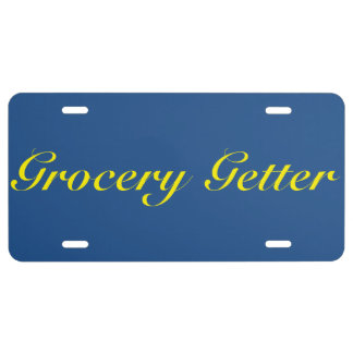Grocery Getter License Plate