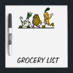 "GROCERY LIST Dry-Erase BOARD<br><div class=""desc"">Clearly display household grocery needs and wants. Space in the margins to write notes or  short memos.</div>"