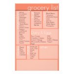 grocery list stationery paper