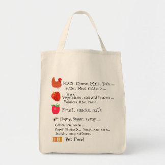 Grocery List Tote Bag