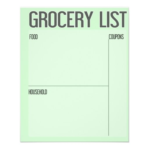 Grocery List with Coupon Side Bar (Customize BG) Flyer