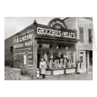 Grocery & Meat Market, 1916 Card