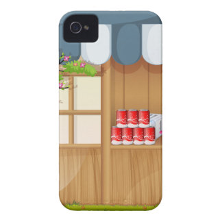 Grocery shop in the park iPhone 4 Case-Mate case