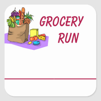 Grocery Shopping Planner Sticker