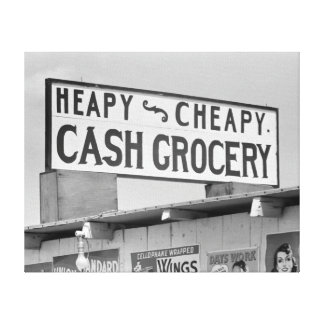 Grocery Sign, 1939 Canvas Print