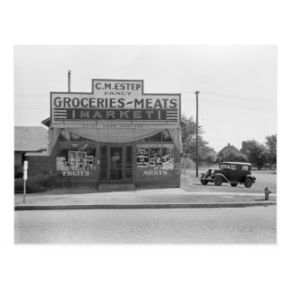 Grocery Store, 1938 Postcard