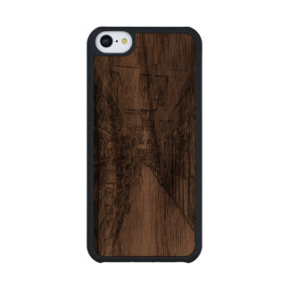 grocery store carved® walnut iPhone 5C case
