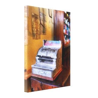 Grocery Store Cash Register Canvas Print