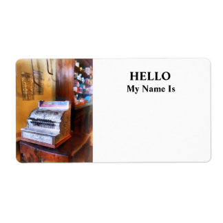 Grocery Store Cash Register Label