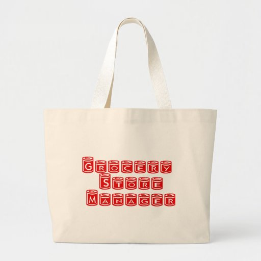Grocery Store Manager Tote Bags