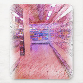 grocery store mouse pad