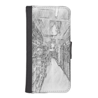 grocery store phone wallet case
