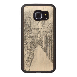 grocery store wood phone case