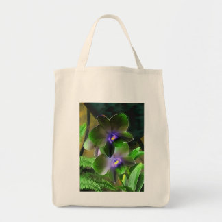 Grocery Tote Bag - Orchids
