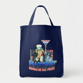 Grocery Tote Bags - Martinis Should Be Tax Free