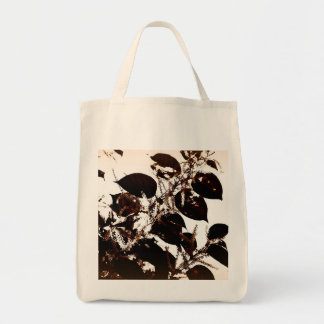 "Grocery tote; bamboo in flower, ""au naturale"" tote bag"