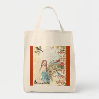 "Grocery Tote ""Bird Cage Fairy """