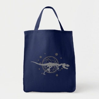 Grocery Tote (Blue) Canvas Bag
