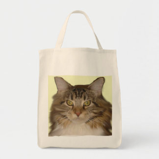 grocery tote cat face tote bags