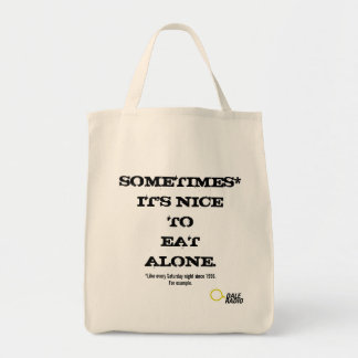 Grocery tote for those who eat alone.