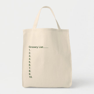 Grocery Tote/Grocery List Tote Bag