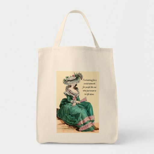 Grocery Tote - I'm Looking For A Social Network... Tote Bag