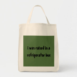 Grocery Tote raised in refrigerator box