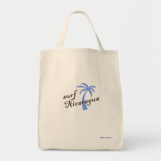 Grocery tote - surf Nicaragua Canvas Bags