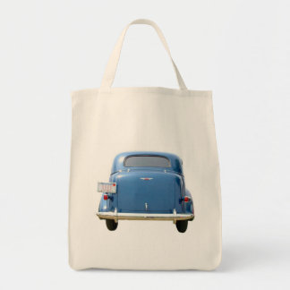Grocery Tote - Vintage Blue Chevy Father's Day