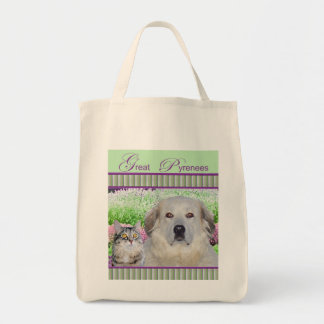 Grocery Tote w/Great Pyr & Buddy Canvas Bags