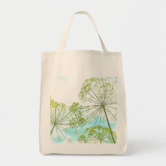"Grocery Tote with ""Dill Garden"" Photograph"