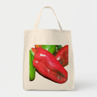 Grocery Tote with Peppers Grocery Tote Bag