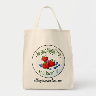 Grocery Tote with the Gluten and Allergy Free logo Grocery Tote Bag